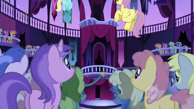 File:Ponies in the town hall S1E01.png