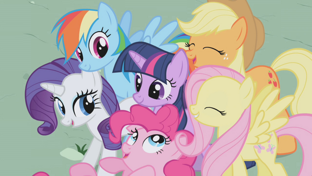 File:Main ponies together S01E02.png