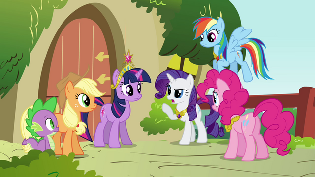File:Rarity talking to the group S3E10.png