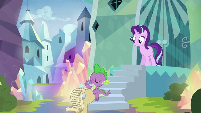 """File:Spike """"highlight the importance of the meeting"""" S6E1.png"""