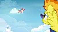 Angel Wings bucking a cloud S6E24