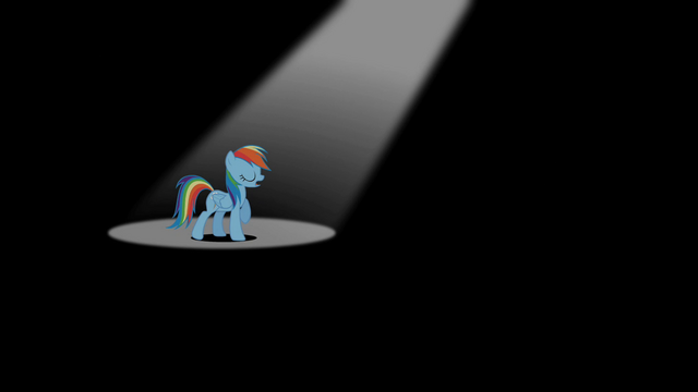 File:Rainbow Dash under the spotlight S2E07.png
