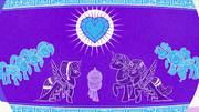 Vase illustration of a Crystalling ceremony S6E1