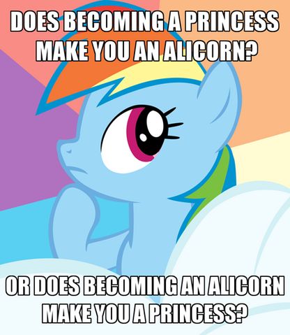 File:FANMADE Rainbow Dash thinking about alicorns and princesses.png