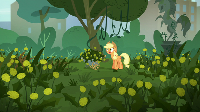 File:Applejack has a lot more weeds to pull S5E16.png