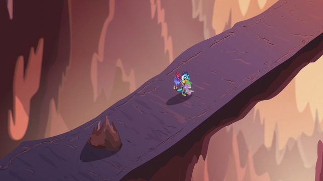 File:Ember and Spike hugging on the volcano bridge S6E5.png