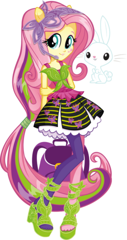 File:Fluttershy Rainbow Rocks character bio art.png