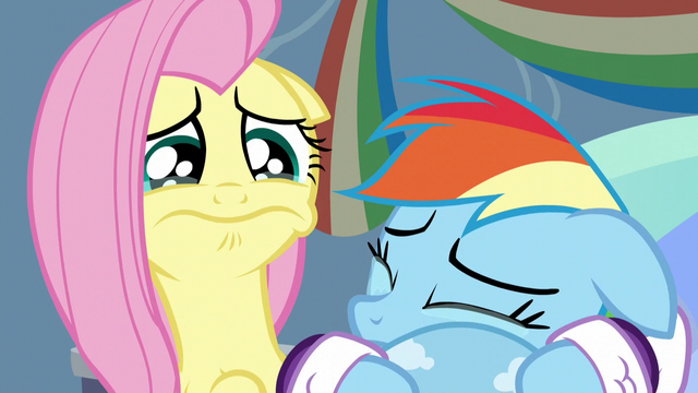 File:Fluttershy tearing up S5E5.png