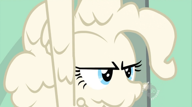 File:Dough-covered Pinkie Pie frowning S02E13.png