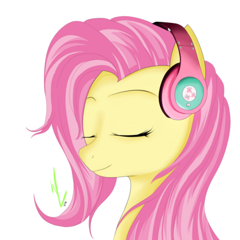 File:FANMADE Fluttershy's headphones by drawalandraw.png