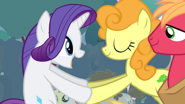 File:Rarity shaking Golden Harvest's hooves S4E13.png