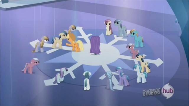 File:Applejack keeping Crystal Ponies at bay 2 S3E2.png