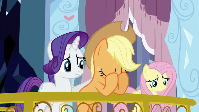 File:Applejack with head in her hooves S3E2.png