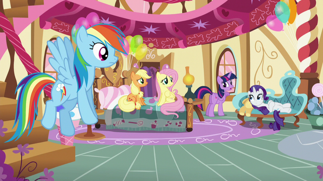 "File:Twilight's friends listening to Twilight ""This isn't like her!"" S5E11.png"