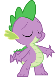 File:FANMADE Spike vector by X-Celestia-X.png
