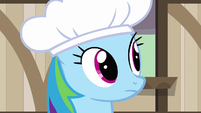 Rainbow Dash checking S2E14