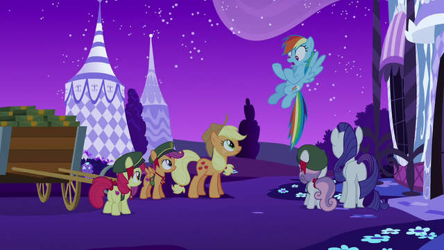 "File:Rainbow Dash ""you have to follow me!"" S6E15.png"