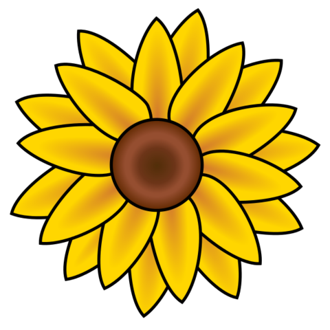 File:Sunflower clip art.png