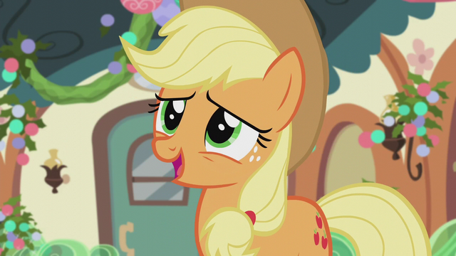 "File:Applejack ""what a great tradition"" S5E20.png"