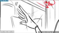 EG3 animatic - Twilight's hand brushing the glass