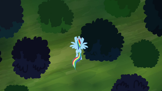 File:Rainbow Dash flying over the forest S4E04.png