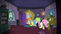 Moon Dancer and friends going outside S5E12