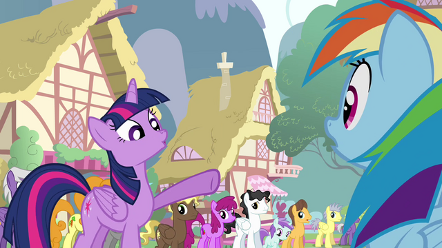 File:Twilight pointing at Rainbow S4E12.png
