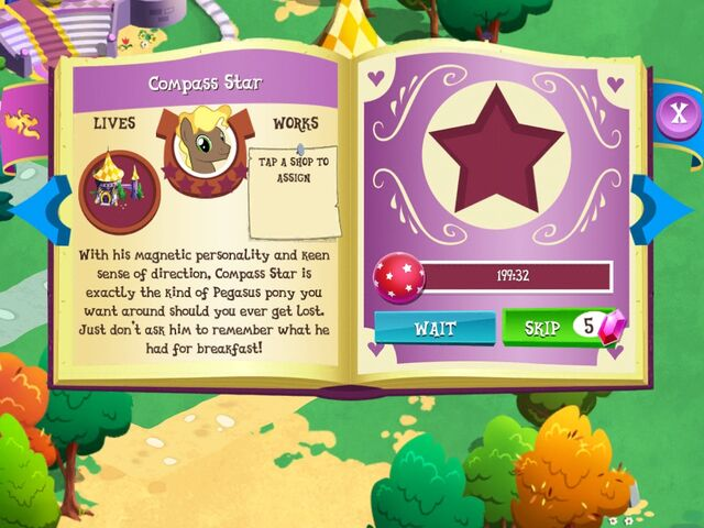 File:Compass Star album page MLP mobile game.jpg