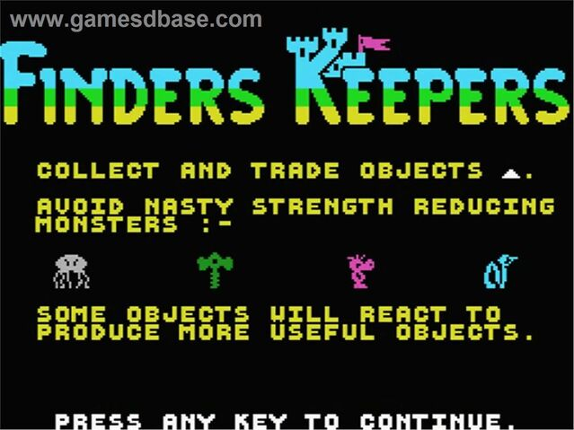 File:Finders Keepers - 1986 - Mastertronic fan.jpg