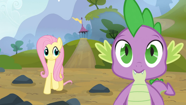 File:Fluttershy looks at Spike S3E09.png