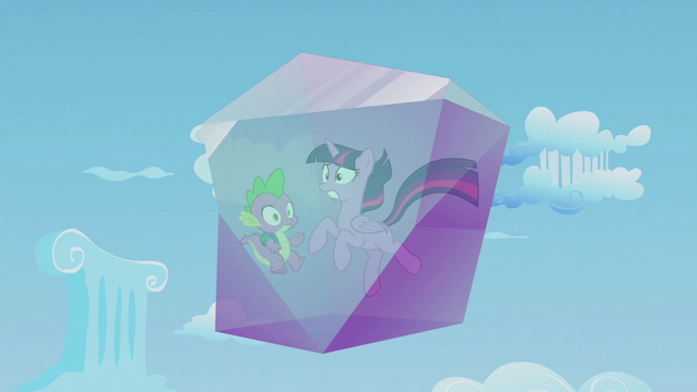 File:Twilight and Spike frozen in a crystal block S5E25.png