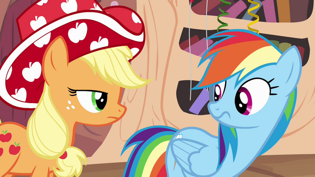 File:Applejack wearing party hat S4E04.png