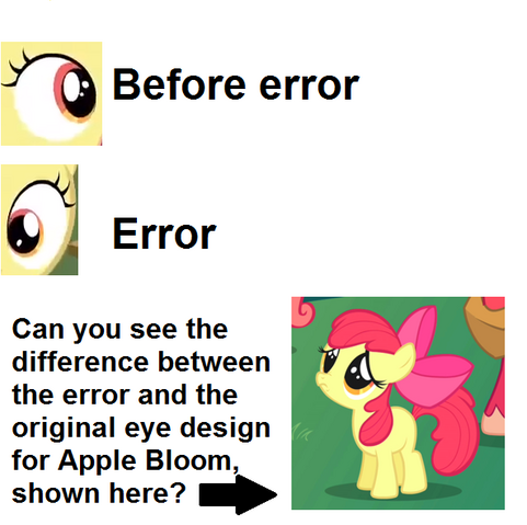 File:FANMADE Apple Bloom eye error comparison S3E8.png