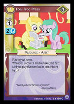 Foal Free Press card MLP CCG