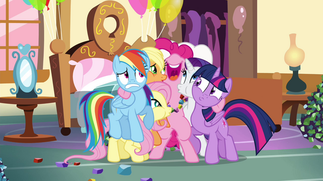 File:Pinkie Pie hugging all of her friends S4E18.png