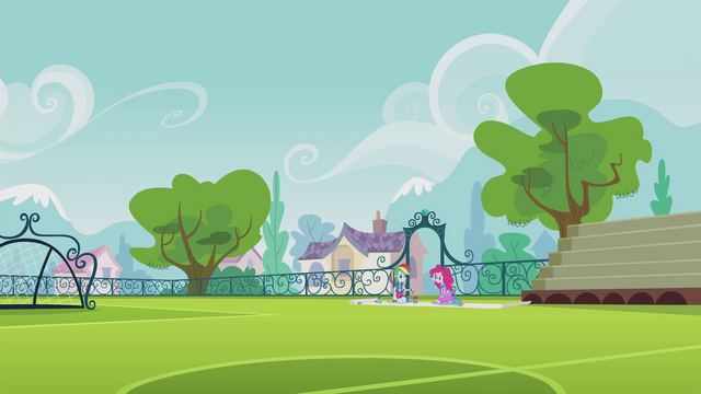 File:Pinkie and Rainbow on the soccer pitch EG2.png