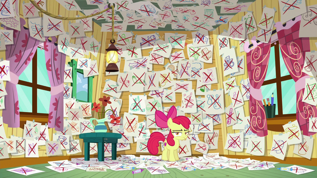 File:Apple Bloom's walls of failed interests S6E4.png