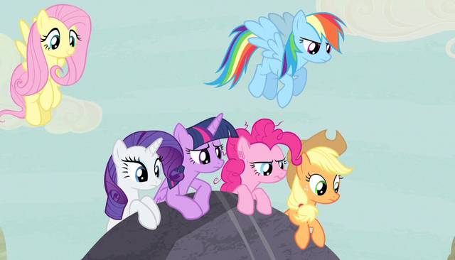 File:Mane Six just outside the village S5E1.png
