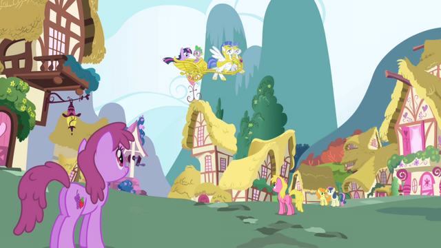 File:Twilight Sparkle arrives in Ponyville S1E01.png