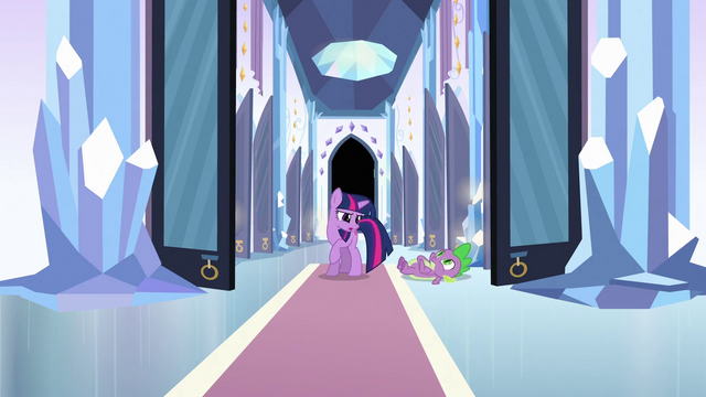 File:Twilight staring at Spike S3E2.png