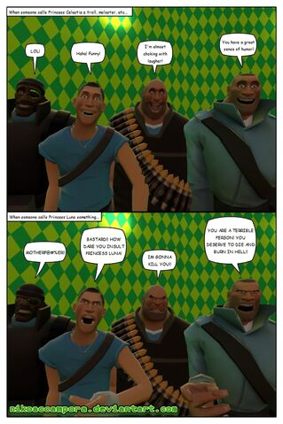 File:FANMADE Gmod Comic how bronies react when someone says something about the Princess Sisters.jpg