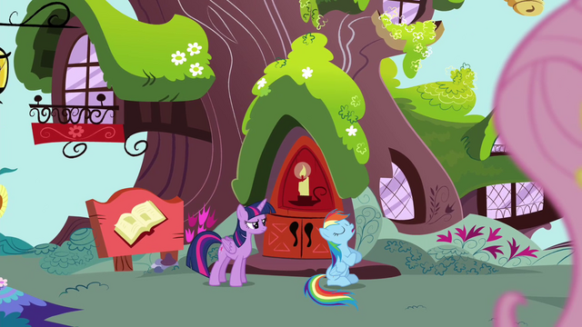 """File:Rainbow """"why I have to take this lousy test"""" S4E21.png"""