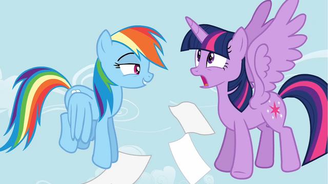File:Rainbow Dash surprising Twilight S4E21.png