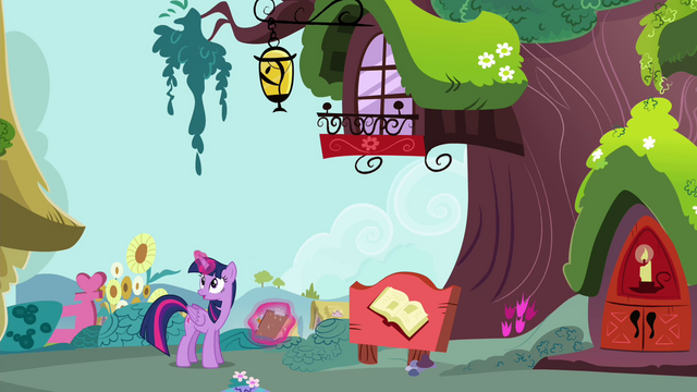 File:Twilight sees that Rainbow is nowhere to be found S4E21.png