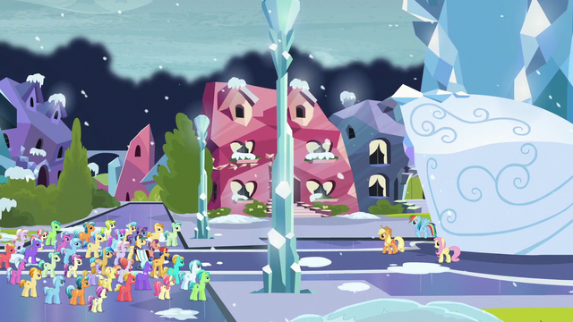File:Applejack speaking to the crowd of Crystal Ponies S6E2.png