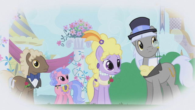 File:Upper-class ponies looking at Rarity S1E03.png