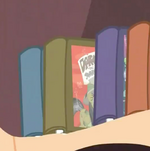 Daring Do books in the shelf S2E16