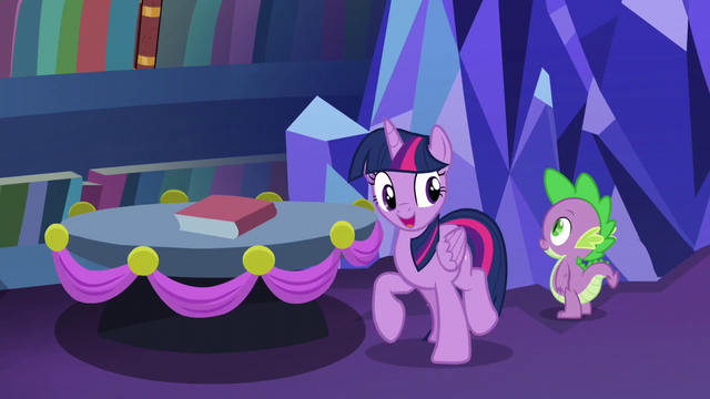 "File:Twilight ""Spike and I are heading downstairs"" S06E08.png"