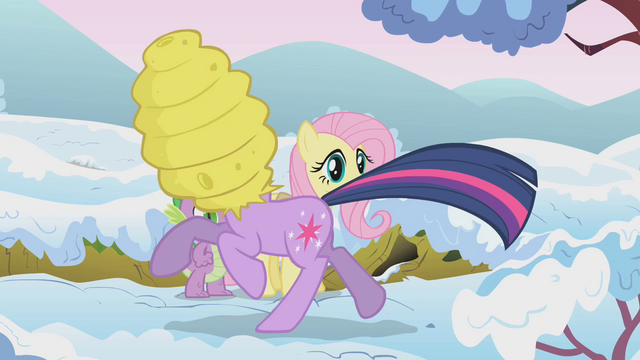 File:Twilight running with beehive on her head S1E11.png