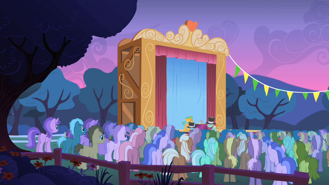 File:Crowd of ponies watching Snips and Snails S1E18.png